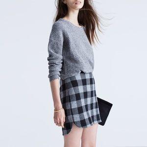 Madewell Shirttail Skirt in Plaid